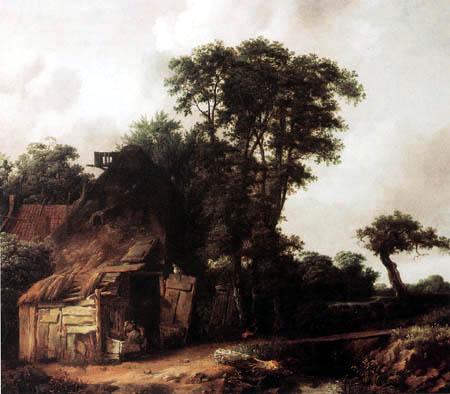 Cornelis Gerritsz. Decker - Bauernhaus am Fluß