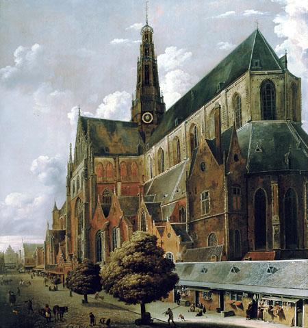 Cornelis Gerritsz. Decker - Die Bavo-Kirche von der Südseite gesehen