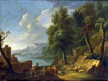 Cornelis Gerritsz. Decker - Paysage avec Bergers