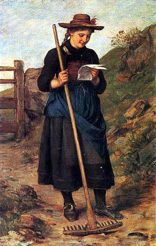 Franz von Defregger - Love letter