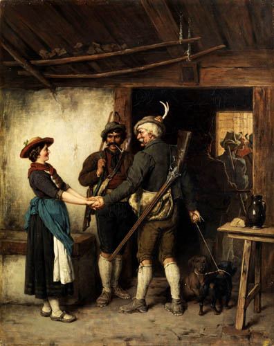 Franz von Defregger - Goodbye of hunters