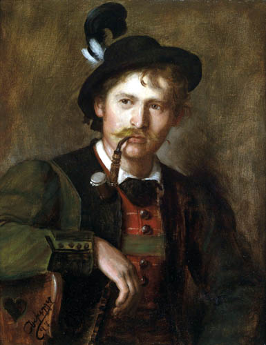 Franz von Defregger - Portrait of a young Tyrolean