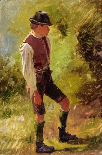 Franz von Defregger - Hirtenbub