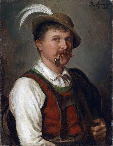 Franz von Defregger - Young man in Sunday Dress