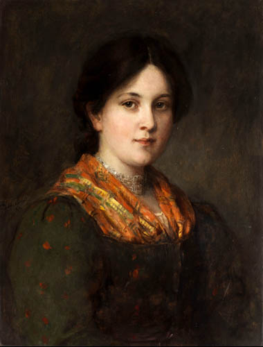 Franz von Defregger - Portrait of a girl