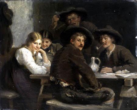 Franz von Defregger - Cheers, Study