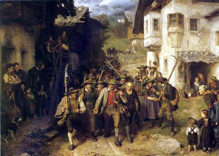 Franz von Defregger - Das letzte Aufgebot