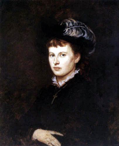 Franz von Defregger - Anna Müller, Woman of the painter