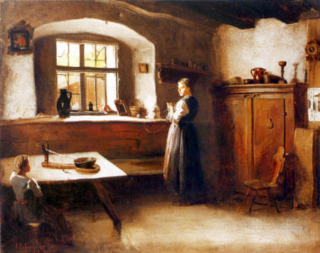Franz von Defregger - Farmhouse Room
