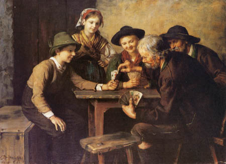Franz von Defregger - Card-game