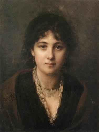 Franz von Defregger - Portrait einer Dame