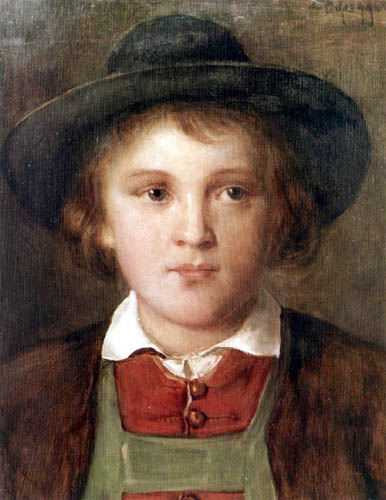 Franz von Defregger - Portait of a Boy