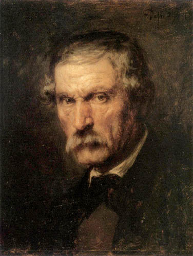 Franz von Defregger - Portait of a man