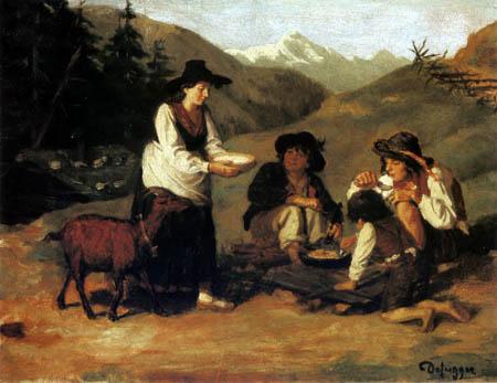 Franz von Defregger - Shepherd´s meal