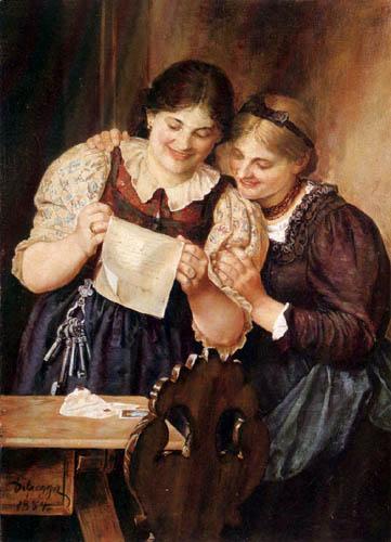 Franz von Defregger - The Love Letter