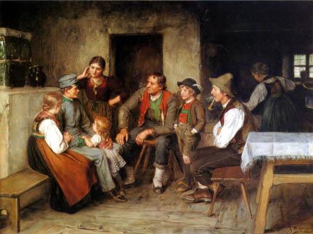 Franz von Defregger - The Tourist
