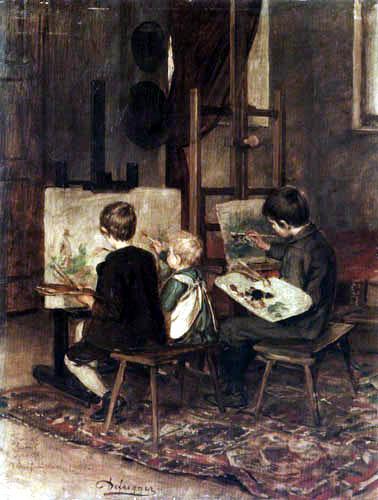 Franz von Defregger - The three youngest