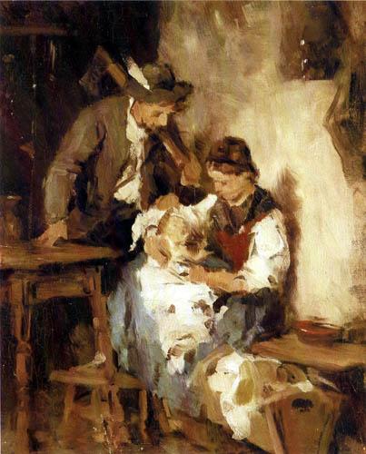 Franz von Defregger - Young parents