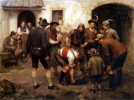 Franz von Defregger - Trial of strength