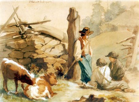 Franz von Defregger - Three Herdsboys