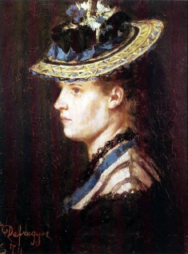 Franz von Defregger - Wife of the painter
