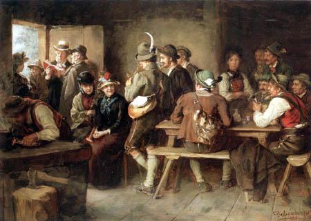 Franz von Defregger - Eingeregnet