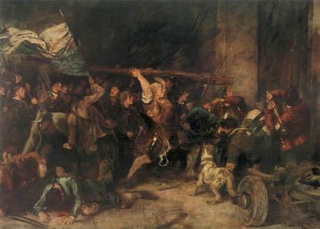 Franz von Defregger - Die Erstürmung des Roten Turms