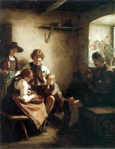 Franz von Defregger - Family idyll