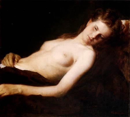 Franz von Defregger - Nude
