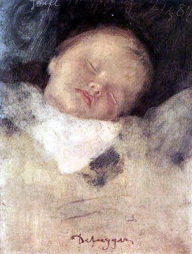 Franz von Defregger - Hansl, sleeping