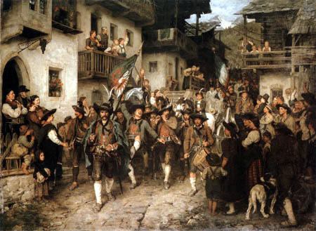 Franz von Defregger - Home coming of the winners