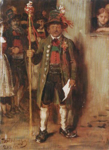 Franz von Defregger - Hochzeitslader