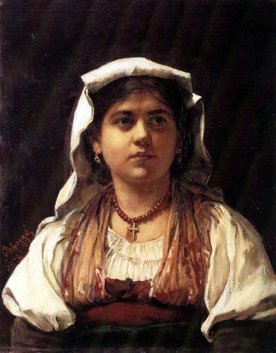 Franz von Defregger - Italian girl