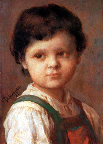 Franz von Defregger - Portait of a child