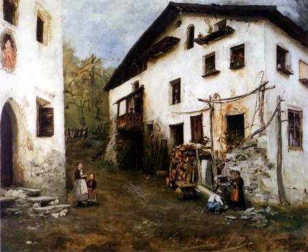 Franz von Defregger - Landecker Häuser