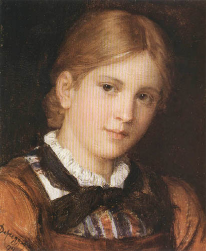 Franz von Defregger - Mädchenporträt