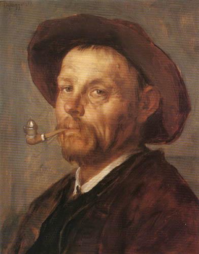 Franz von Defregger - Portait of a man