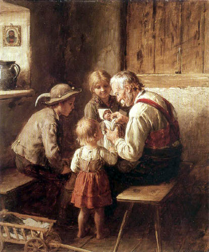 Franz von Defregger - The doll doctor