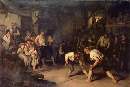 Franz von Defregger - Ringkampf