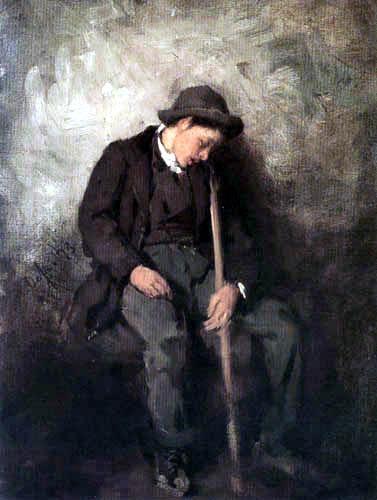 Franz von Defregger - Sleeping Shepherd