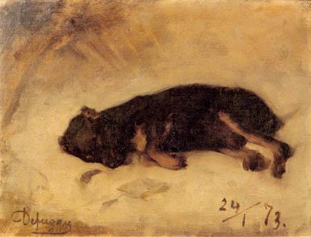 Franz von Defregger - Sleeping dog