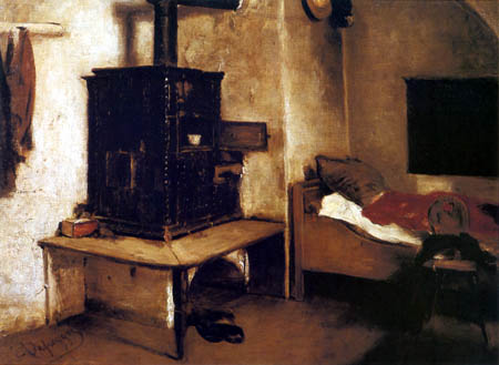 Franz von Defregger - Farmhouse room in Tyrol