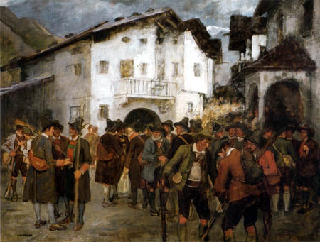 Franz von Defregger - Meeting to the rebellion