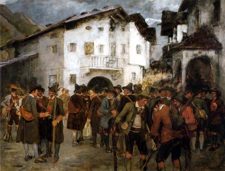 Franz von Defregger - Treffen zum Aufstand