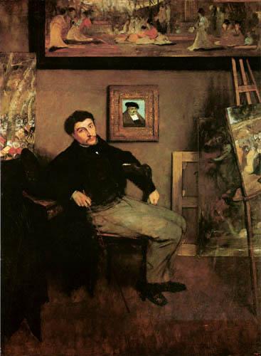 Edgar (Hilaire Germain) Degas (de Gas) - James Tissot im Atelier