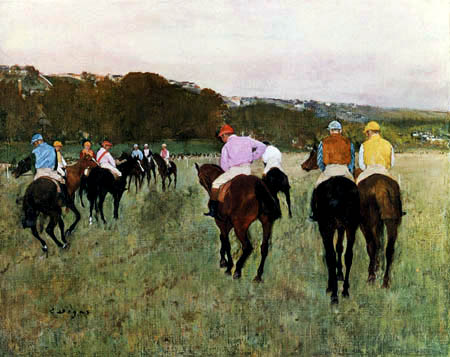 Edgar (Hilaire Germain) Degas (de Gas) - Racehorses near Longchamps