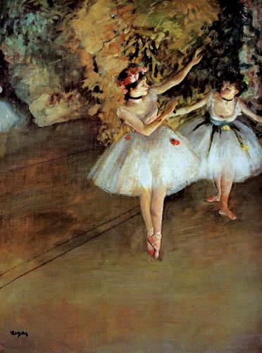 Edgar (Hilaire Germain) Degas (de Gas) - Zwei Tänzerinnen auf der Bühne