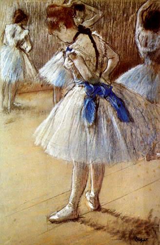 Edgar (Hilaire Germain) Degas (de Gas) - Tänzerin mit blauer Schleife