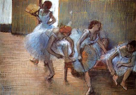 Edgar (Hilaire Germain) Degas (de Gas) - Tänzerinnen mit Fächer