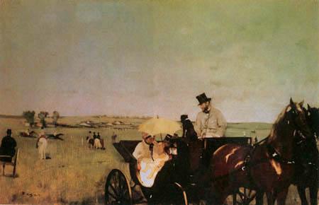 Edgar (Hilaire Germain) Degas (de Gas) - Kutsche auf der Rennbahn